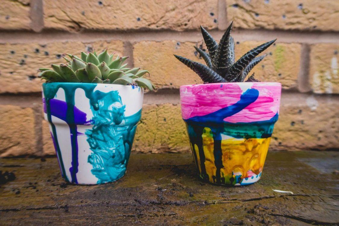Spring Preparations with Baker Ross - mini flowerpots