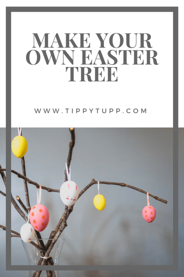 make your own easter tree - easter crafts - toddler crafts
