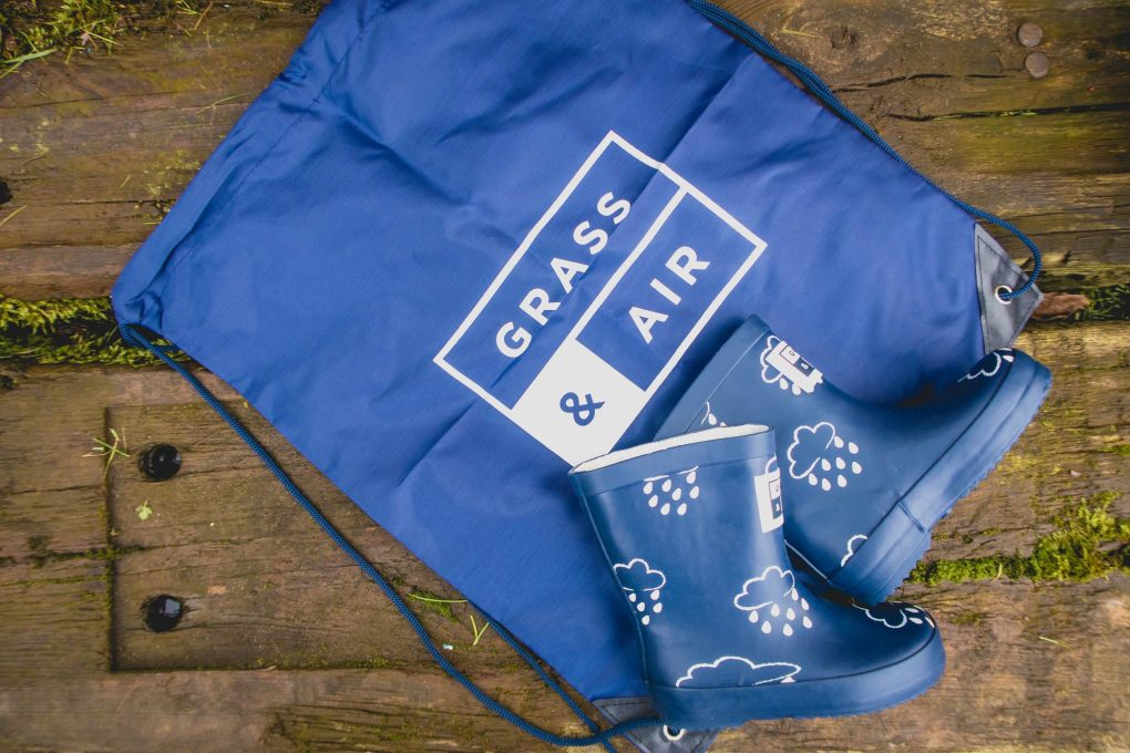 Staying Dry with Grass & Air - product review - wellie boot bag