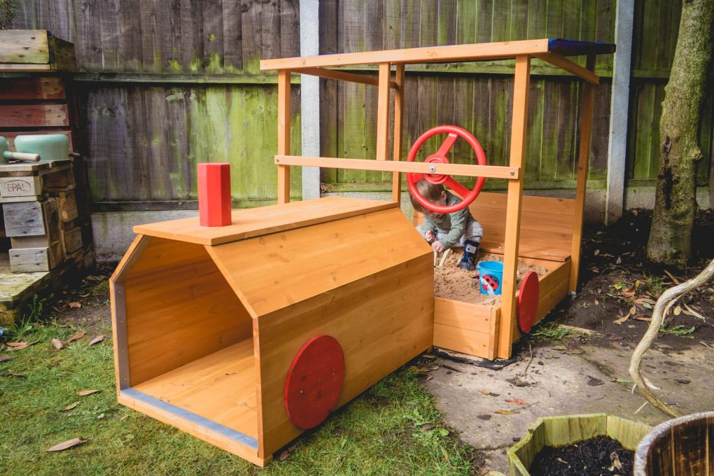product review - choo choo train sandpit - the end result