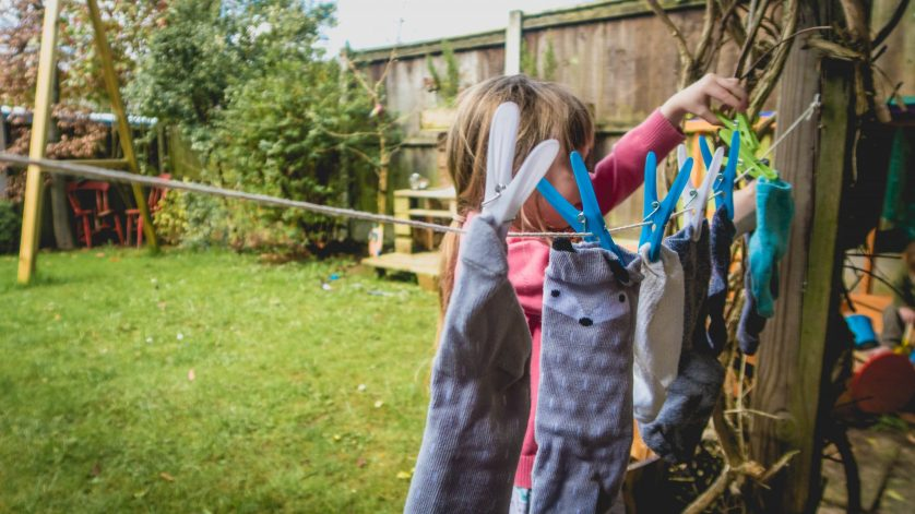 Little People At Work – Toddler Washing Line