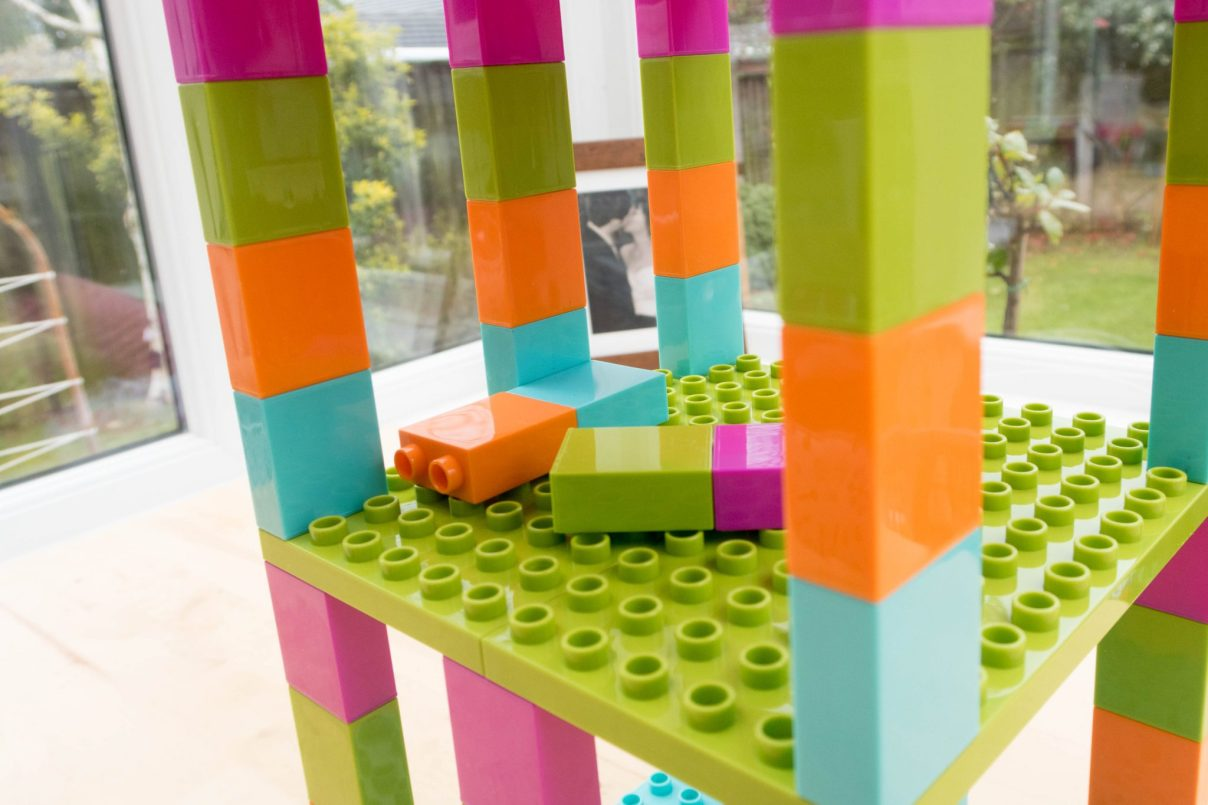 Strictly Briks Brik Buster Tower Toppling Game - in use