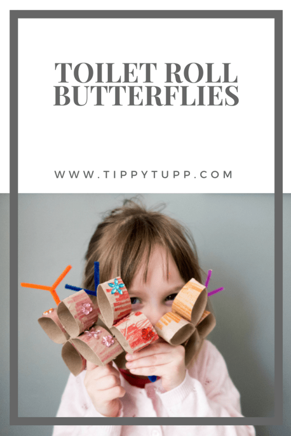 Toilet roll butterflies is a the perfect toddler / pre-schooler craft. Quick and easy to do, they are relatively mess free and take less than an hour to make. Use as a standalone butterfly to make into a toilet roll butterfly mobile like we did. Beautiful in the home or in the garden.