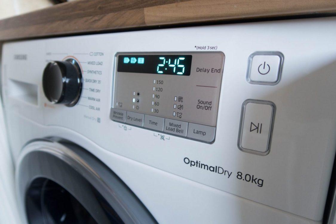 Samsung Heat Pump Tumble Dryer - control panel