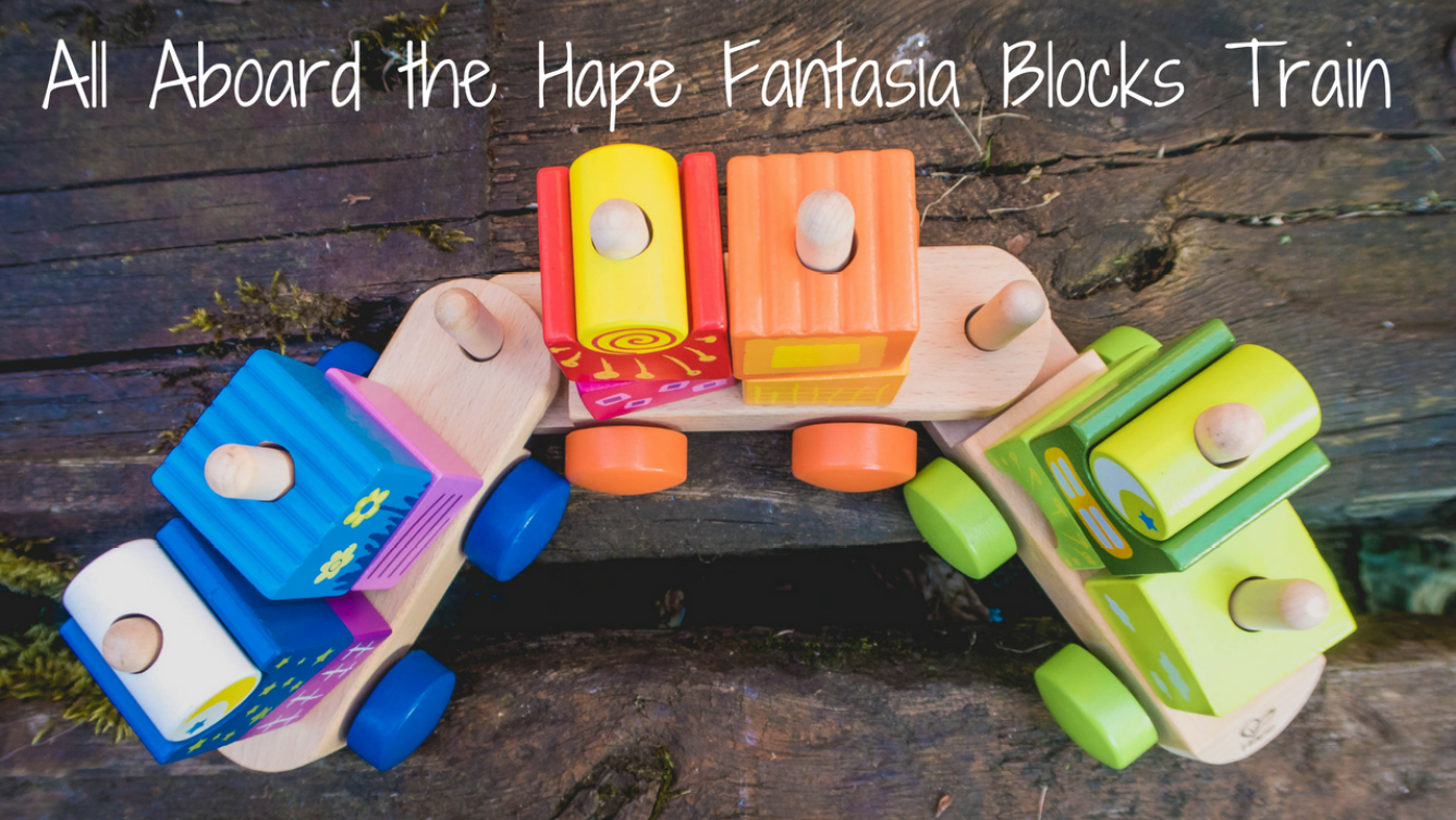 Hape Fantasia Blocks Train - blog post header