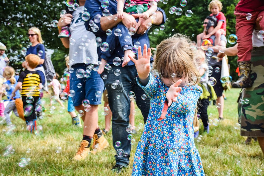 Just So Festival 2018 - playing with bubbles