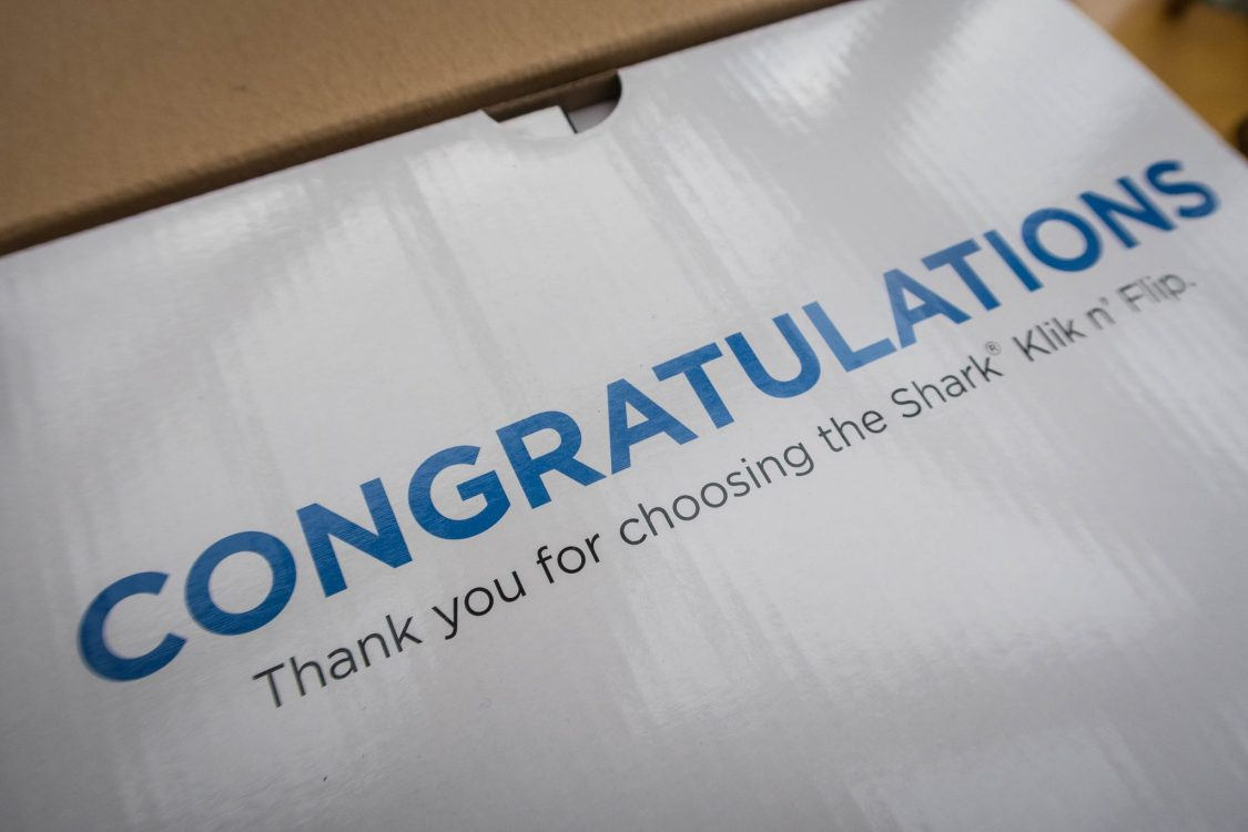 Banish Dirt with the Shark Steam Pocket Mop - on the box