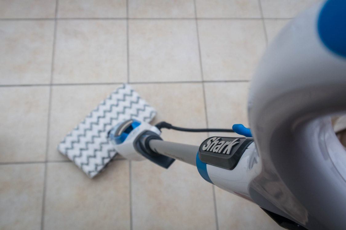 Banish Dirt with the Shark Steam Pocket Mop - in use