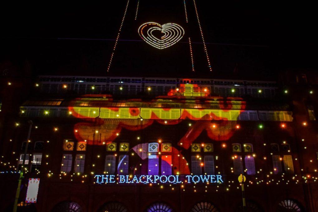 Blackpool illuminations - on the tower