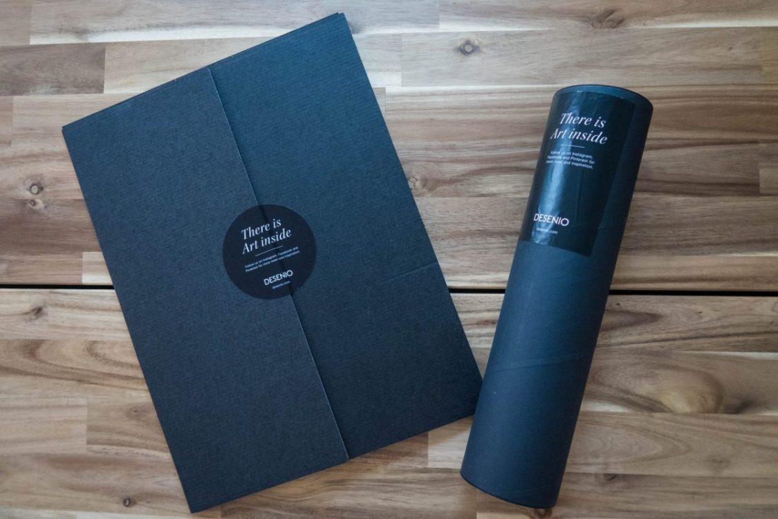 Scandinavian Design with Desenio - packaging