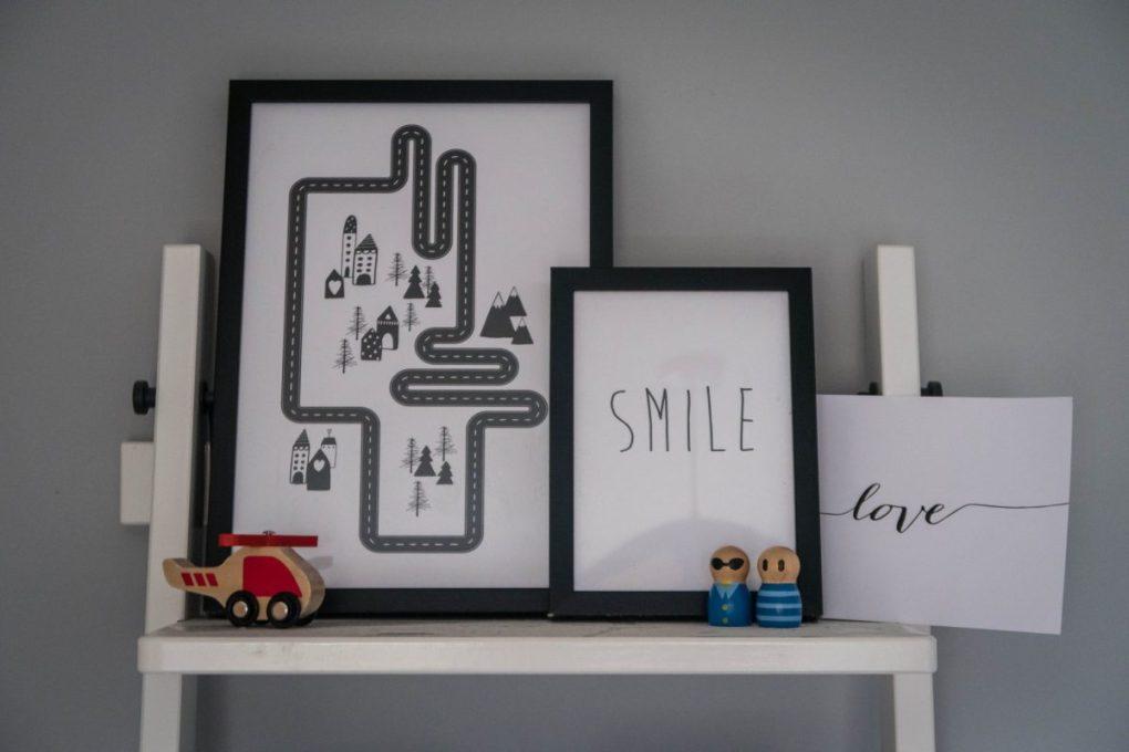 Scandinavian Design with Desenio - in the boys room