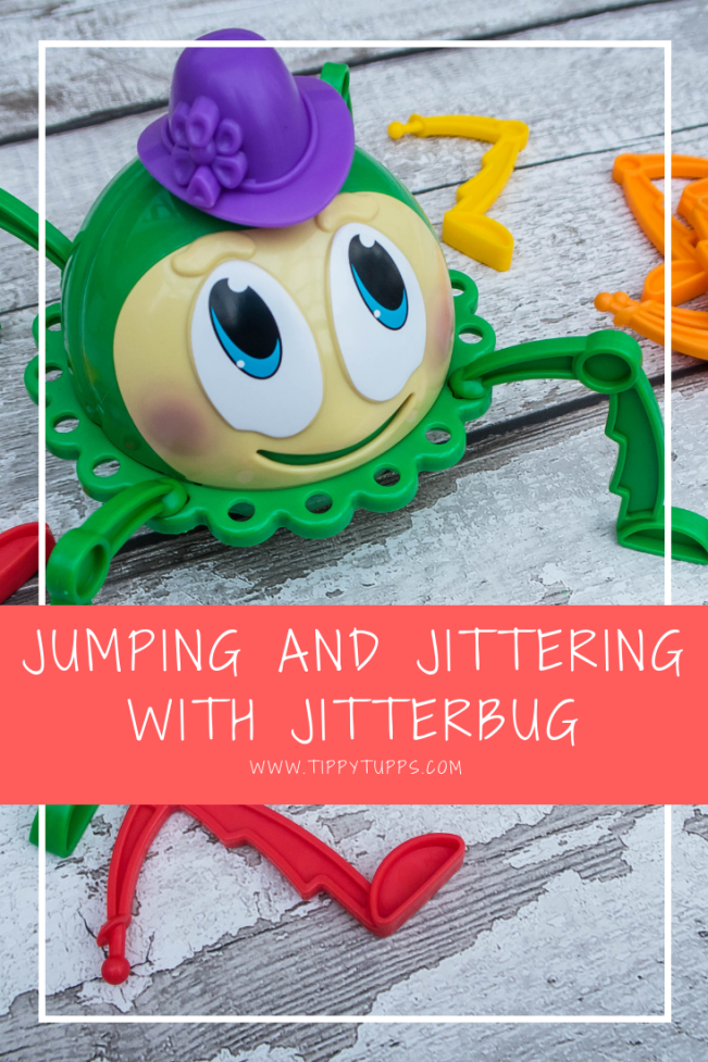 This is a great children's game. Suitable from 12 months upwards, it's wonderful to find something that little ones can join in with and play along. With bold and beautiful colours, the Jitterbug not only looks great but also provides plenty of jitter themed fun for the whole family.