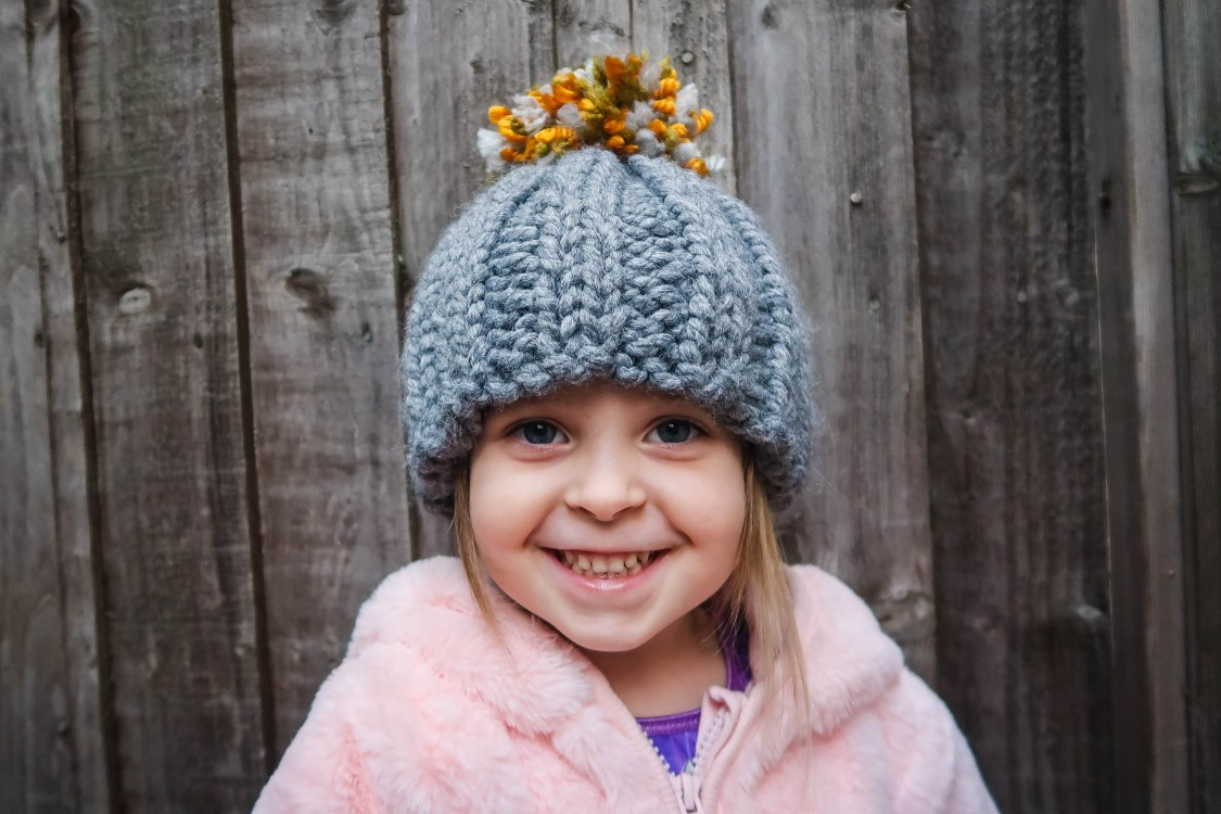Stash Busting Chunky Bobble Hat - the finished item