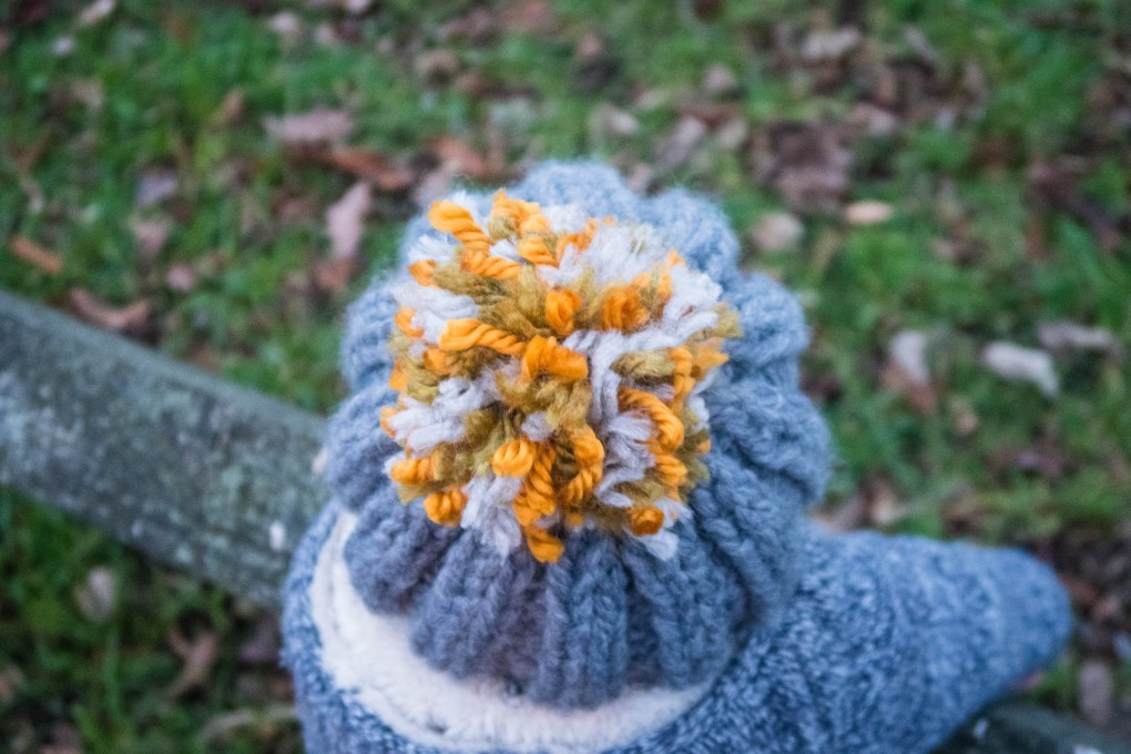 Stash Busting Chunky Bobble Hat - the pom pom!
