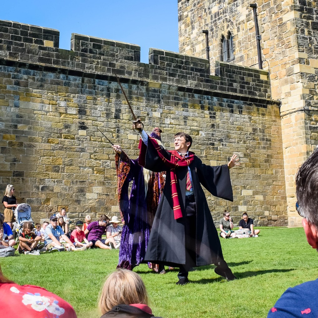 Harry and Dumbledore working together again at Alnwick Castle