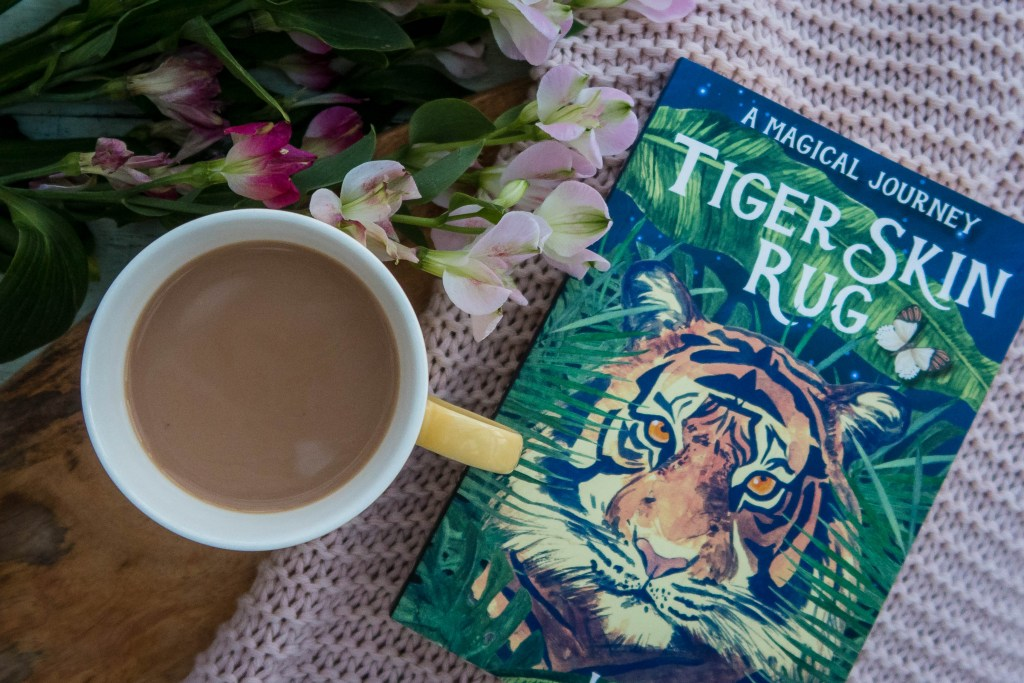 Tiger Skin Rug book flat lay