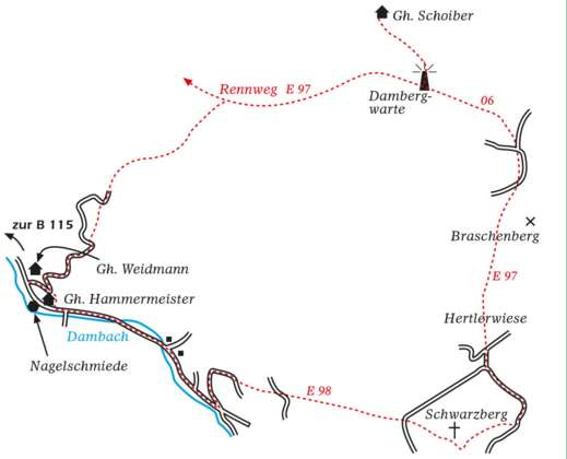 Über die Dambergwarte zum Schwarzbergherrgott