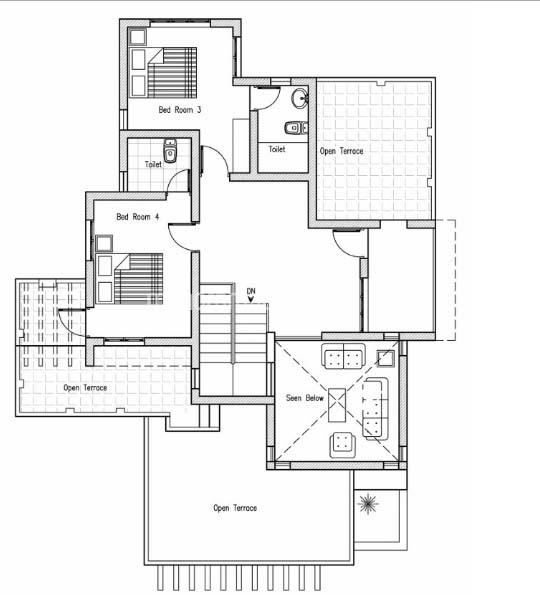 2100 Square Feet 4 Bedroom Contemporary Modern Home Design