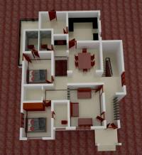 650 Square Feet 2 Bedroom Low Budget Contemporary Modern ...