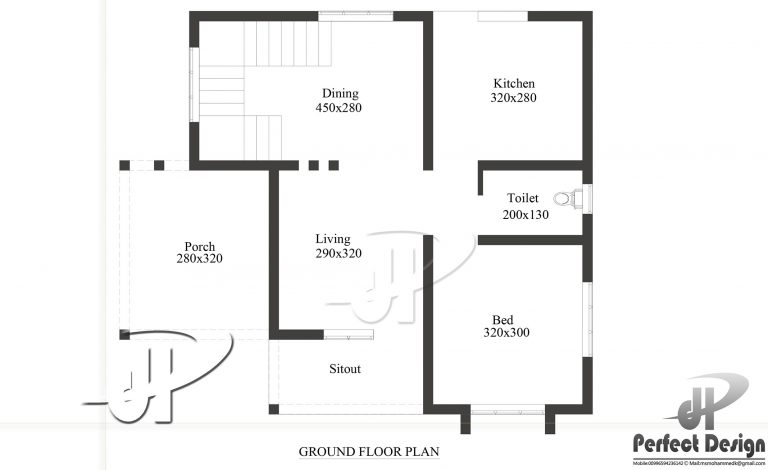650 Square Feet Single Bedroom Modern Home Design and Plan