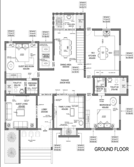 3300 Square Feet 4 Bedroom Contemporary Style Double Floor