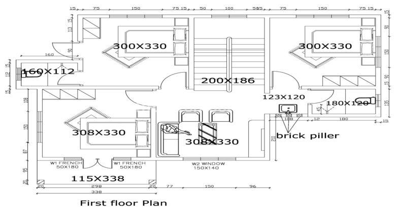 1400 Square Feet 4 Bedroom Double Floor Modern Home Design