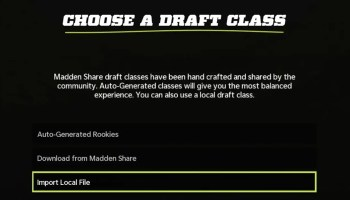 How to Create-Import a Draft Class in Madden 22