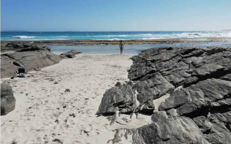 Spiaggia Eleven Mile Beach nella Great Ocean Drive