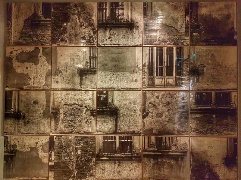Foto del Murales di NOF4 all'interno del Museo dell'Ex Manicomio di Volterra