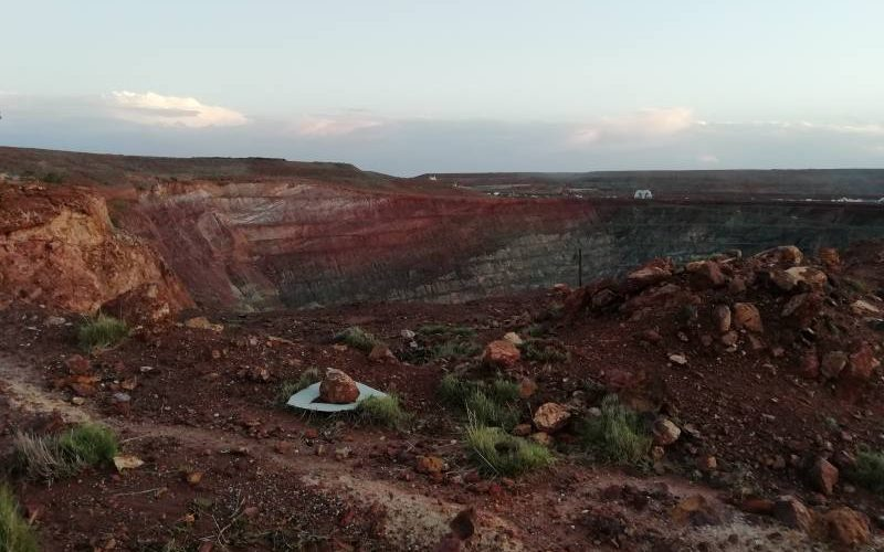 Miniera d'oro alla Ghost Town di Gwalia in Western Australia