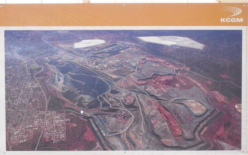 Miniera dell'oro Super Pit di Kalgoorlie vista dall'alto