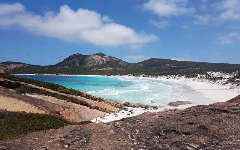 Punto panoramico della spiaggia Thistle Cove dentro Cape Le Grand