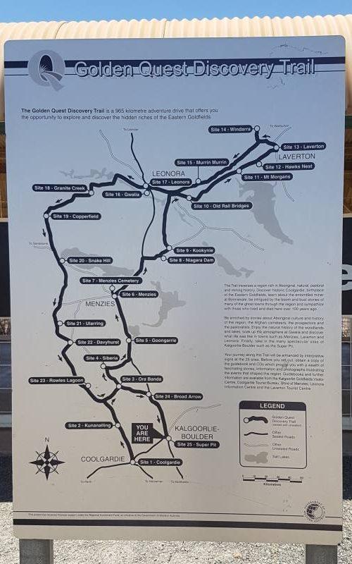 """Strada panoramica delle miniere d'oro """"Golden Quest Discovery Trail"""""""