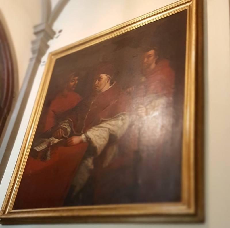 Quadro di Raffaello Sanzio all'interno di Palazzo Pandolfini a Firenze