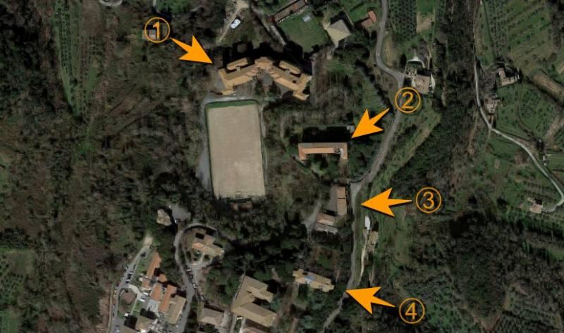Immagine Google Maps degli altri luoghi abbandonati vicino all'ex manicomio di Volterra