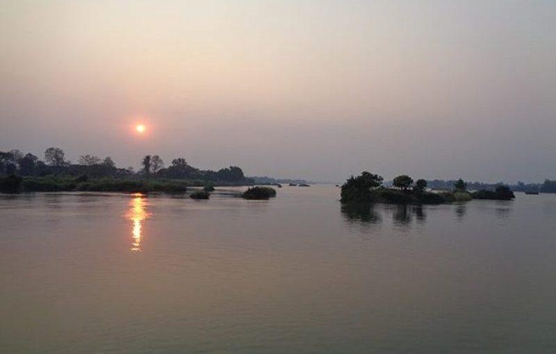 Tramonto alle 4000 isole del Laos