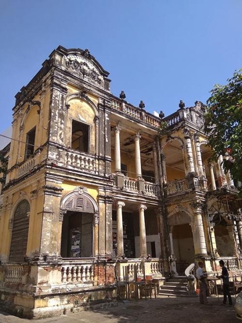 Edificio storico di Phnom Pehn in Cambogia