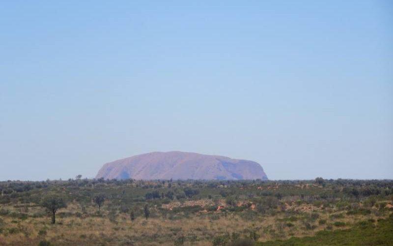 Uluru visto dal punto panoramico Dune Viewing in Australia