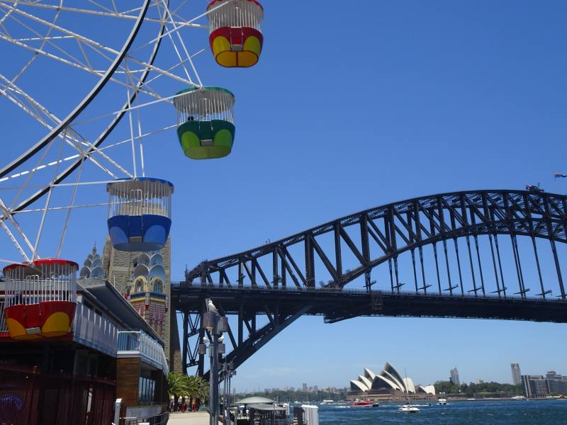 Opera House e Harbour Bridge visti dal Luna Park di Sydney