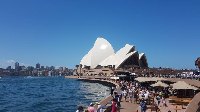 Vista dell'Opera House da Bennelong Point