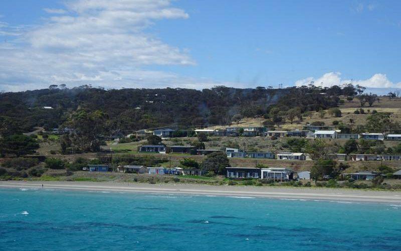 Vista di Penneshaw dal traghetto per Kangaroo Island
