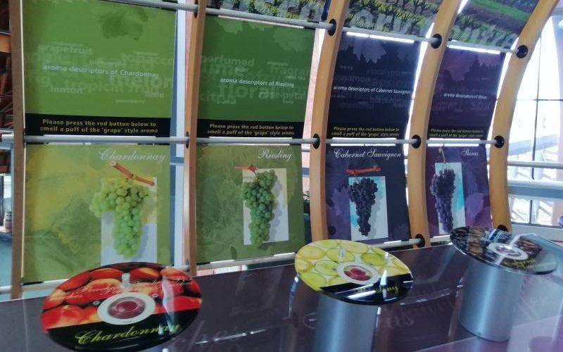 """Installazione olfattiva dentro museo enologico """"National Wine Centre of Australia"""" ad Adelaide"""