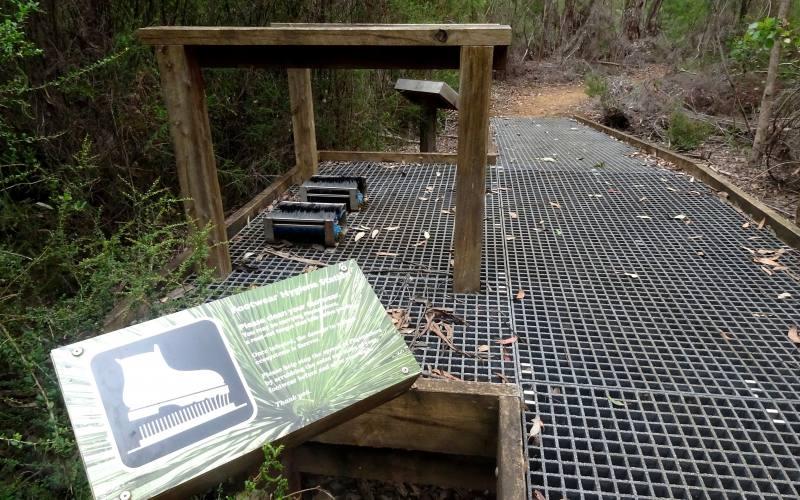 Spazzole per pulizia scarpe prima dei percorsi a Kangaroo Island