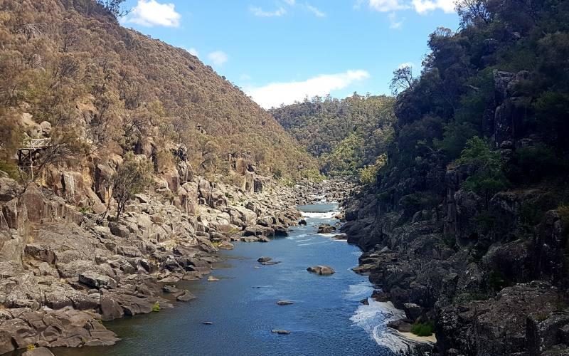 La Cataract Gorge di Launceston, città del Nord della Tasmania
