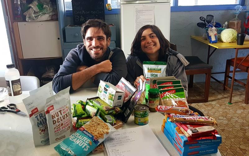 Cosa abbiamo portato da mangiare per l'Overland Track di 7 giorni in Tasmania