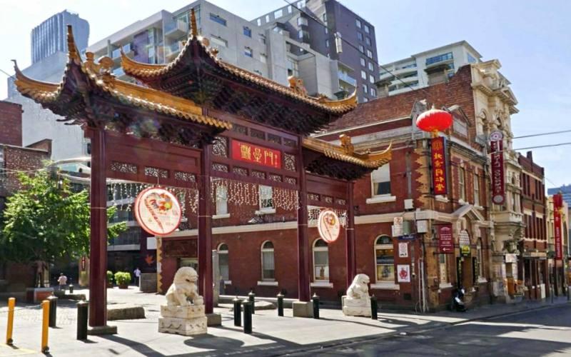 Quartiere cinese Chinatown nel centro di Melbourne in Australia
