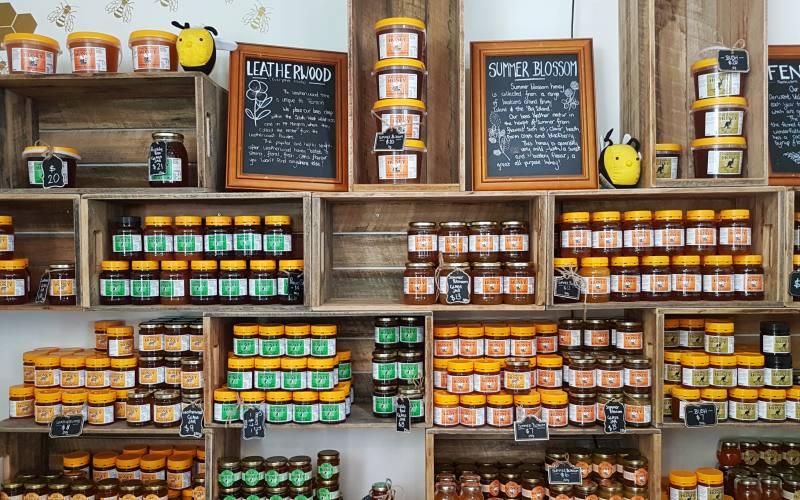 """Varietà di miele del negozio artigianale """"The Honey Pot"""" di Bruny Island in Tasmania"""
