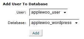Add WordPress User to the Database