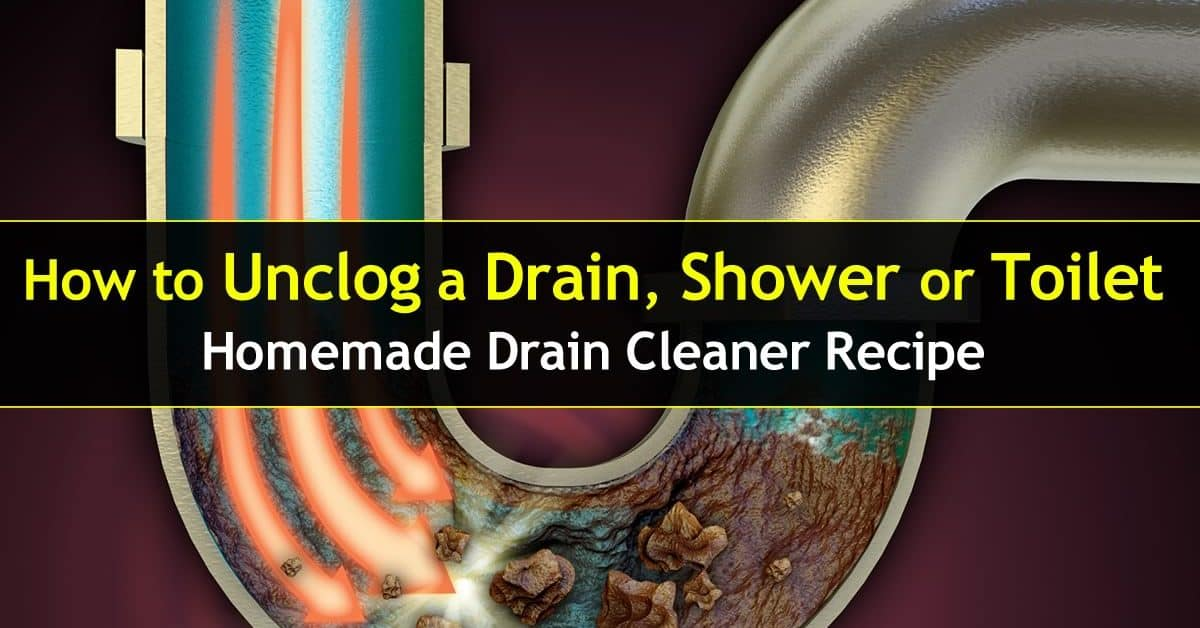 Unclog Drain : How To Unclog A Shower Drain or Toilet.