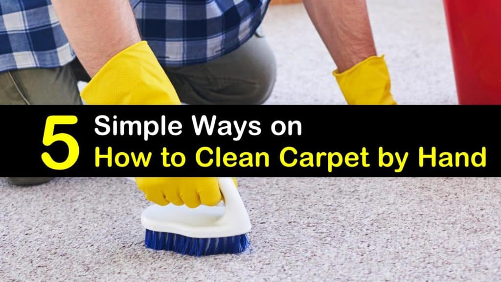 5 Simple Ways on How to Clean Carpet by Hand